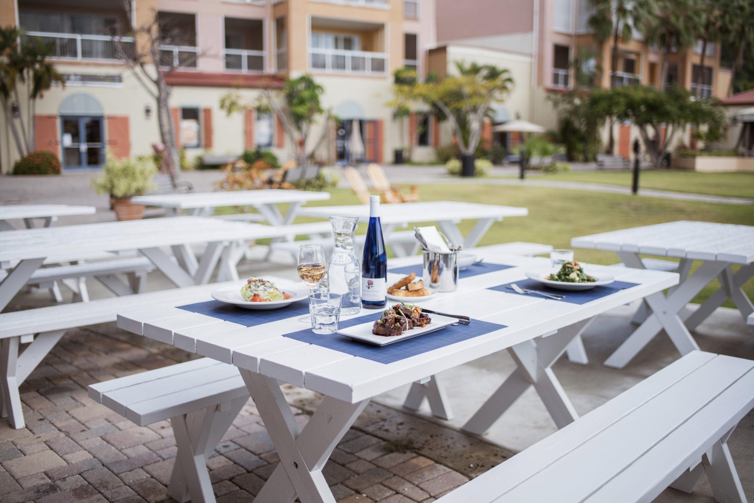 Navy Beach St. Thomas exterior dining